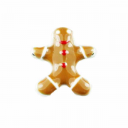 Christmas Charm for Floating Memory Locket - Gingerbread Man