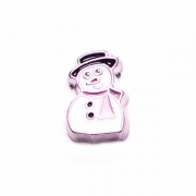 Christmas Charm for Floating Memory Locket - Snowman