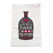 Personalised Christmas Tea Towel - Knowledge Bottled Up