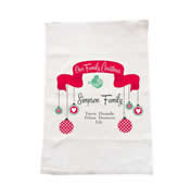 Personalised Christmas Tea Towel - Our Family