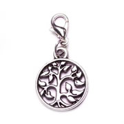 Circular Tree of Life Dangle for Floating Memory Locket
