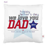 Personalised Cushion Cover for Fathers Day - Happy Fathers Day