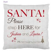 Personalised Cotton Cushion Cover for kids  - Santa Stop Here