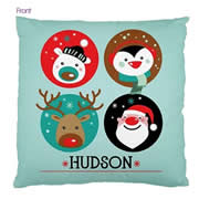 Personalised Cotton Cushion Cover for kids  - Green