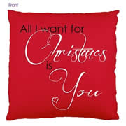 Personalised Cotton Cushion Cover for Grown Ups - All I Want For Christmas