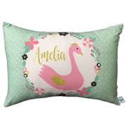 Personalised Cushion for kids - Swan Princess