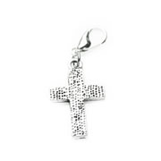 Dotty Textured Cross Dangle for Floating Memory Locket