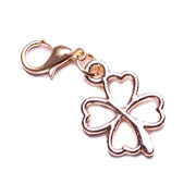 Four Leaf Clover - gold tone Dangle for Floating Memory Locket