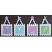 .Framed Wooden Letters for kids / baby - Initial Frames 20% off for names of 3 or more letters sample 1