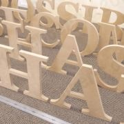 FREESTANDING Wooden Captial Letter UNPAINTED - 30 cm, 35 cm or 40 cm tall, 18 mm thick