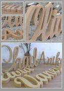 .FREESTANDING Wooden Scripted Name UNPAINTED Plaque for kids - OVER 25 FONTS