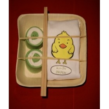 Unique Gift basket for new baby - Banana Leaf Plate Lemon Chicken