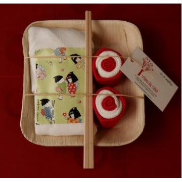 Unique Gift basket for new baby - Banana Leaf Plate Girls Kimono Kids