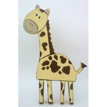 Wooden Block Freestanding giraffe