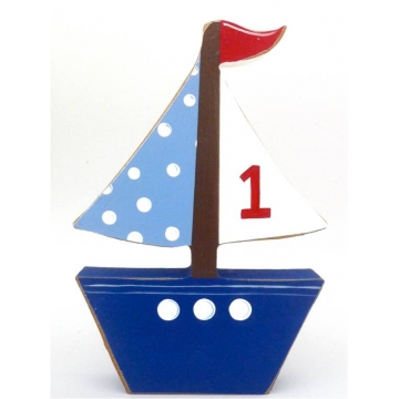 Wooden Block Freestanding sailboat