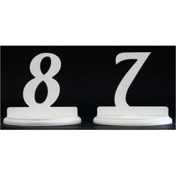 Wedding Table Numbers painted