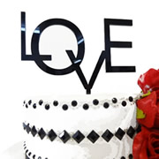 Cake signs, toppers and plaques  -  Modern LOVE