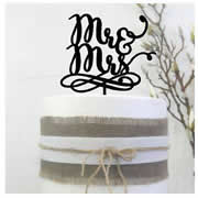 Cake signs, toppers and plaques  -  Mr&Mrs Funky style