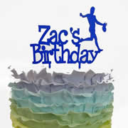 Cake signs, toppers and plaques personalised - Birthday - Name with Motif 2 lines