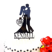 Cake signs, toppers and plaques personalised - Wedding  - Bride and Groom Surname