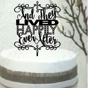 Cake signs, toppers and plaques personalised - Wedding  - Happily Ever After
