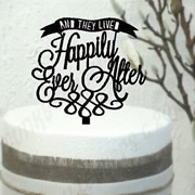 Cake signs, toppers and plaques personalised - Wedding  - Happily Ever After Banner