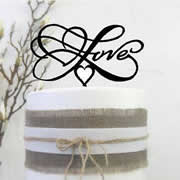 Cake signs, toppers and plaques personalised - Wedding  - Love Infinity 3D