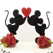 Cake signs, toppers and plaques personalised - Wedding  - Minnie And Mickey Inspired