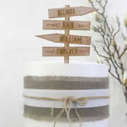Cake signs, toppers and plaques personalised - Wedding  - Sign Post