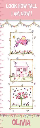 Personalised Canvas Growth Chart - House