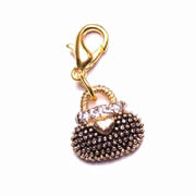 Handbag with Crystals Dangle for Floating Memory Locket