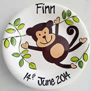 Handpainted Personalised Plate - Cheeky Monkey