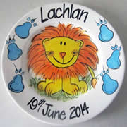 Handpainted Personalised Plate - King of the Jungle