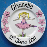 Handpainted Personalised Plate - Little Ballerina
