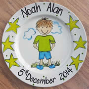 Handpainted Personalised Plate - Little Boy