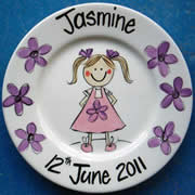 Handpainted Personalised Plate - Little Girl