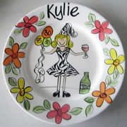 Handpainted Personalised Plate - Party Animal Birthday