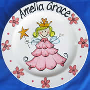 Handpainted Personalised Plate - Princess Fairy