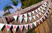 Bunting - HAPPY BIRTHDAY - you choose colour theme pattern