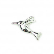 Animal Charm for Floating Memory Locket - Hummingbird - Silver