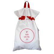 Santa Sack - Personalised Christmas Holly
