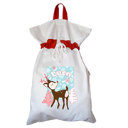 Santa Sack - Personalised Snowflake Light Blue