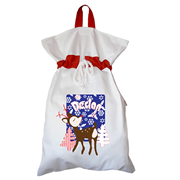 Santa Sack - Personalised Snowflake Dark Blue