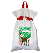 Santa Sack - Personalised Snowflake Green
