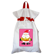 Santa Sack - Personalised Santa Girl
