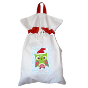 Santa Sack - Personalised Christmas Owl