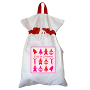 Santa Sack - Personalised First Christmas Girl