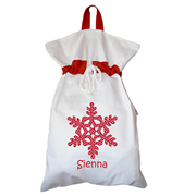 Santa Sack - Personalised Snowflake Star