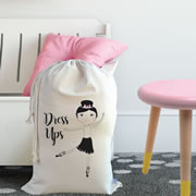 Personalised Kids Drawstring Toy Storage Sack - Dress Ups