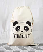 Personalised Kids Drawstring Toy Storage Sack - Panda